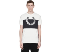 Laurel Wreath Print T-hirt weiß