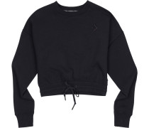 Cropped Crew Damen Sweater schwarz