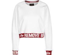 RBF Cropped Damen Sweater weiß