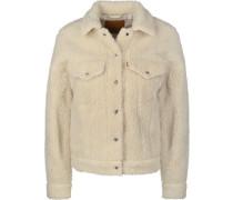 All Over Sherpa Trucker W Jeansjacke beige