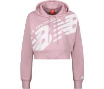 Wt93572 Damen Hoodie pink weiß