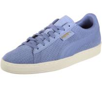 Suede Classic Perforation Schuhe blau weiß