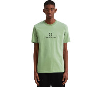 Embroidered T-hirt Herren grün