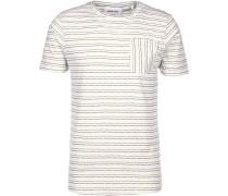 Mason Herren T-Shirt weiß blau gestreift