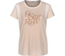 Firn r t Herren T-Shirt pink weiß gestreift