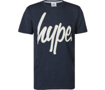 Basic Logo Herren T-Shirt blau eliert