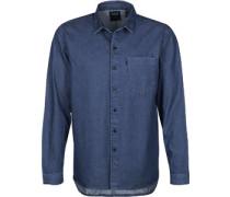 Line 8 Pocket Langarmhemd blau