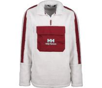 Yu 1/2 Zip Pile Herren Sweater weiß rot