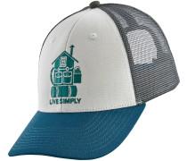 Live Simple LoPro Trucker Cap weiß blau grau