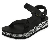Flatform Marbled W Sandalen schwarz weiß