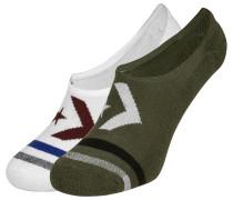 Vintage Star Chevron Stripe Mfc Ox 2 Pack Socken oliv weiß
