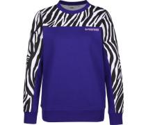 Zebra Boyfriend Damen Sweater blau