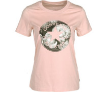Floral Cp Fill Crew W T-Shirt pink