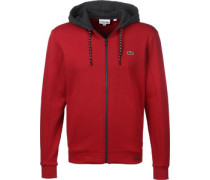 Hooded Zipper rot grau
