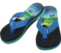 Ahi Sandalen blau grün gestreift