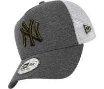 Jersey Essential York Yankees Trucker Cap grau meliert weiß