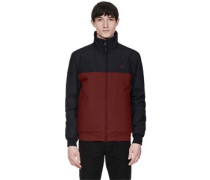 Panelled Quilted Brentham Jacke chwarz rot
