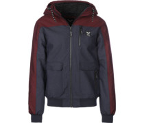 Dock36 Worker Winterjacke blau rot