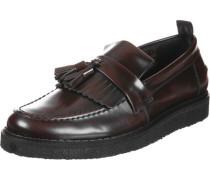 Fs x Gc Tassel Loafer Leather Schuhe weinrot schwarz
