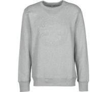 Ebossed Graphic Crew Sweater grau