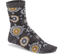 Sole Bling Flower Damen Socken grau meliert