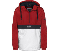Colorblock Popover Windbreaker Herren rot