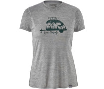 Cap Daily Graphic Damen T-Shirt grau meliert