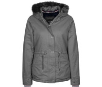 Padded With Fur Lining W Winterjacken Winterjacke grau grau
