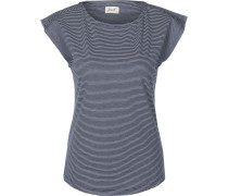 Charleston Damen T-Shirt blau weiß gestreift