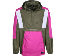 Packable Hooded Windbreaker Herren oliv pink
