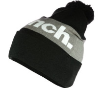 Turn Up Colourblock Bobble Beanie schwarz