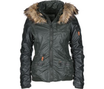 Bryanna Fake Leather W Winterjacken Winterjacke grün grün