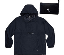 Packable Hooded Windbreaker Herren chwarz