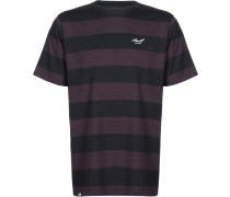 Striped Herren T-Shirt blau rot gestreift