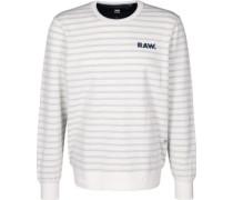 Prebase Sweater weiß bau gestreift