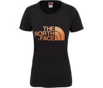 Easy S/s W T-Shirt Damen schwarz kupfer EU