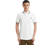 lim Fit Twin Tipped Herren Polo weiß