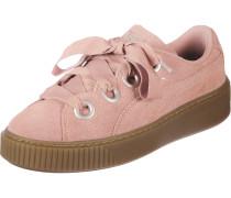 Platform Kiss Suede Damen Schuhe pink