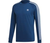 3-Stripes Longsleeve Herren blau