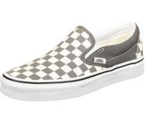 ComfyCush Slip-On Schuhe beige grau kariert