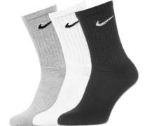 Crew 3er Pack Socken grau schwarz weiß