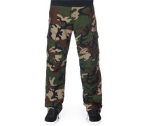 Cargo Regular Hose Herren camo green rinsed