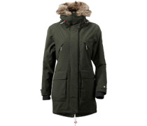Lina W Parka dark green