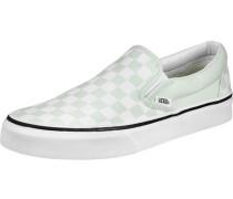 Classic Slip-On Schuhe grün weiß kariert