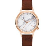 Lexi Marble Uhr white marble brown