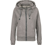 Her. Zip Through W Fleecejacke grau meliert
