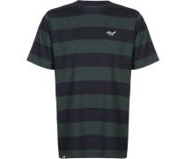 Striped Herren T-Shirt blau grün gestreift