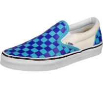 Classic Slip-On Schuhe blau kariert