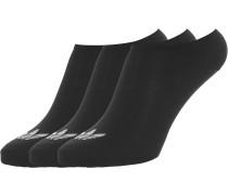 Trefoil Liner 3-Pack Herren Socken schwarz