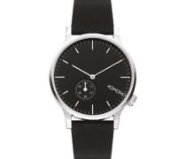 Winston Subs Uhr schwarz silber